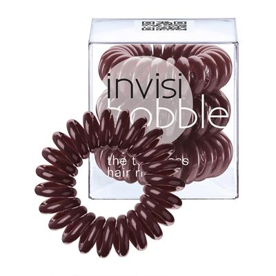 INVISIBOBBLE Chocolate Brown Brązowe gumki do włosów 3 pack