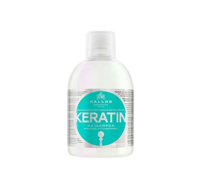 Kallos KJMN szampon z keratyną 1000ml ułatwiający prostowanie