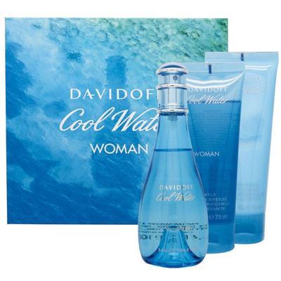 Davidoff Cool Water Woman 100ml + 75ml shower gel + 75ml body lotion