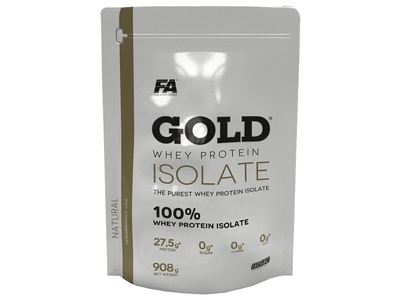 Fitness Authority Gold Whey isolate Pro izolat 908g Natural