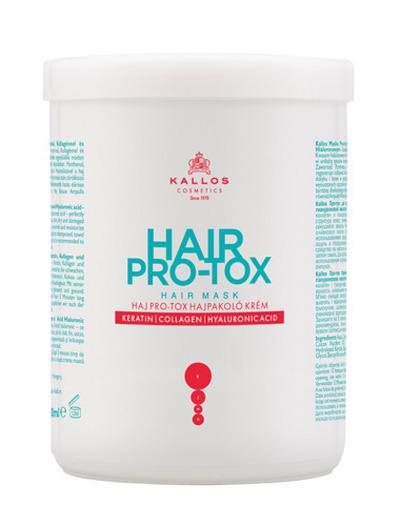 Kallos KJMN Pro-tox maska do włosów 1000ml z keratyną, kolagenem i kwasem hialuronowym