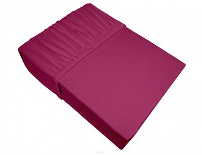 Prześcieradło Jersey z gumką 160x200 ciemno różowe