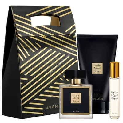 Avon Little Black Dress 50ml edp + balsam + roletka + torebka prezentowa