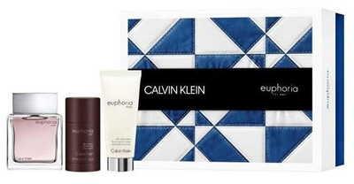 Calvin Klein Euphoria MEN 100ml edt + deo stick 75ml + balsam po goleniu 100ml