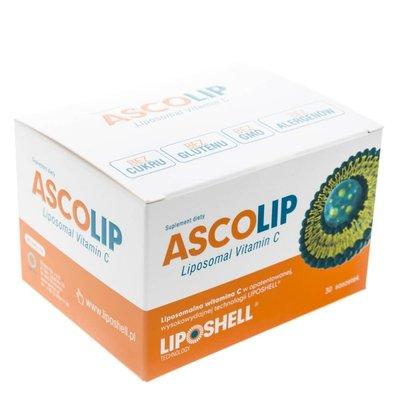 Ascolip - Liposomal wysokowydajna witamina C - żel doustny, 30 saszetek