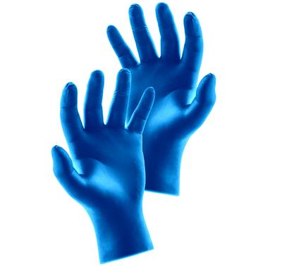 Essenti Care rękawiczki nitrylowe bezpudrowe niebieskie M - 100 sztuk