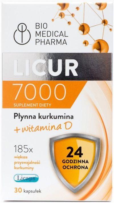 Bio Medical Pharma Licur 7000 + witamina D - 30 kapsułek