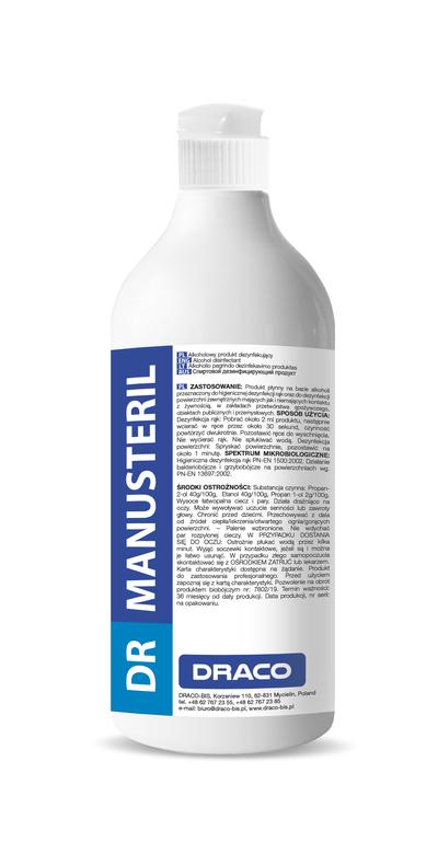 DR MANUSteril płynny żel do dezynfekcji rąk oraz powierzchni 750ml