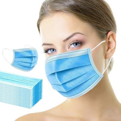 Maska maseczka ochronna 3 warstwowa, medyczna chirurgiczna, w folii 50 sztuk