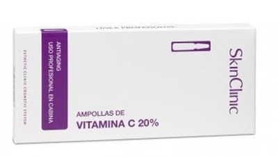 Ampułka Skinclinic Mocne Stężennie Witamina C 20% przeciw Wypadaniu Włosów
