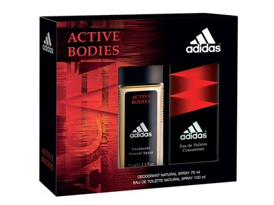Adidas Active Bodies 100ml + deo 75ml zestaw