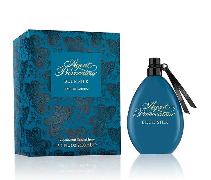 agent provocateur blue silk